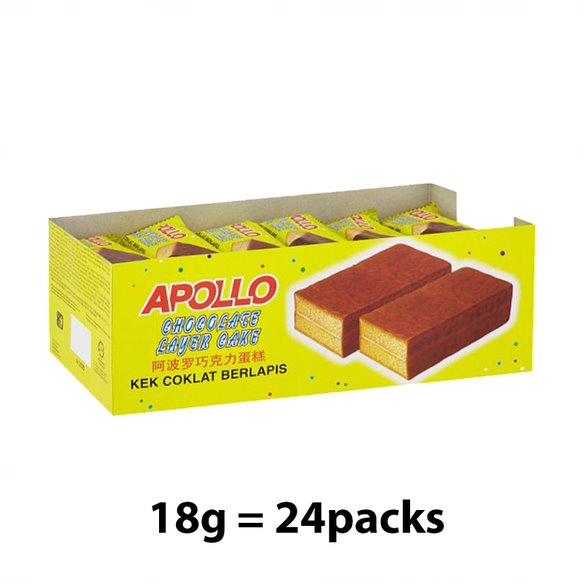 Apollo Cake - Chocolate Layer 18g x 24's